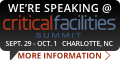 We're Speaking At Critical Facilities Summit
